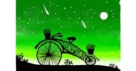 Bicycle drawing by Burj khalifa