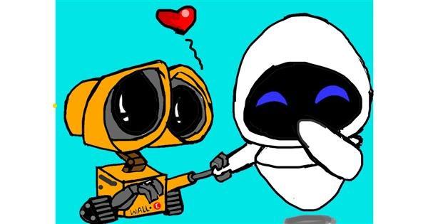 Robot drawing by Vicki