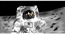 Drawing of Astronaut by Effulgent Emerald