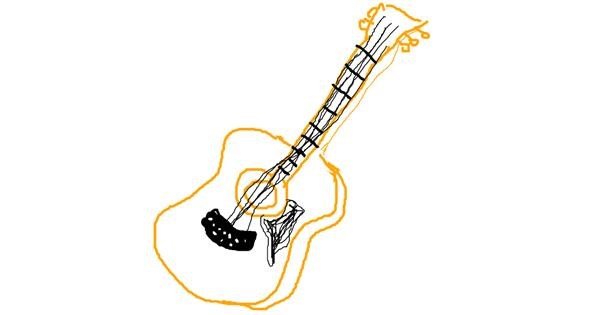 Guitar drawing by Lomba