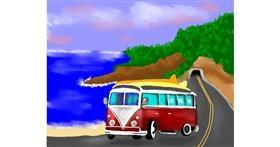 Drawing of Van by Cec