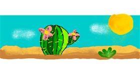 Cactus drawing by AnYAY