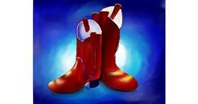 Boots drawing by Mitzi