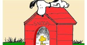 Drawing of Dog house by loser eerawn
