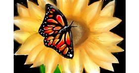 Sunflower drawing by (luna lovegood)