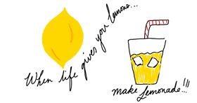 Lemon drawing by Akonk
