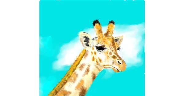 Giraffe drawing by JjjjjjJison