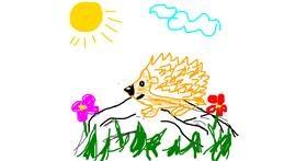 Hedgehog drawing by Joanna