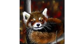 Red Panda drawing by Leah