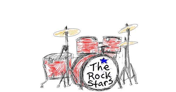 Drum drawing by Kiwi