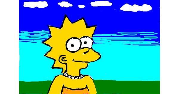 Lisa Simpson drawing by mr man