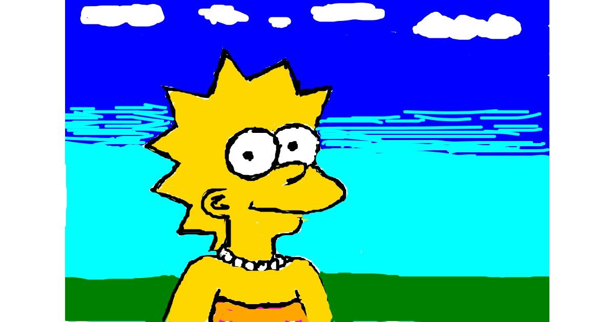 Lisa Simpson drawing by mr man