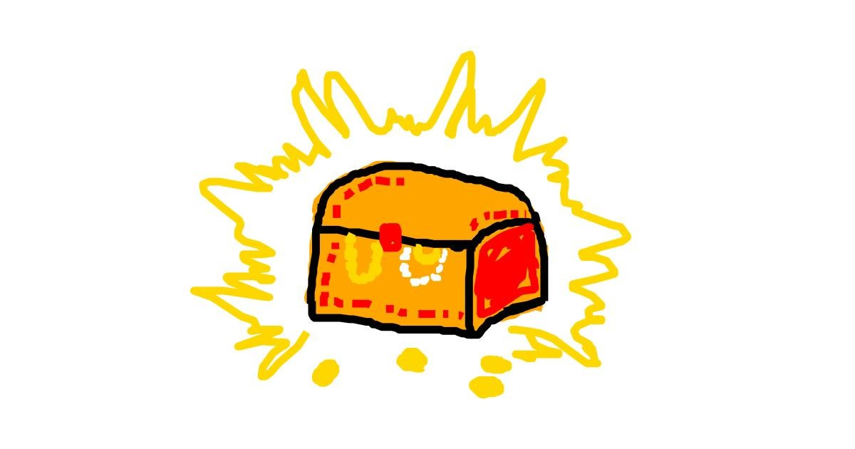 Drawing of Treasure chest by bloop