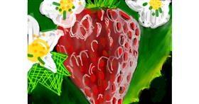 Strawberry drawing by Rak
