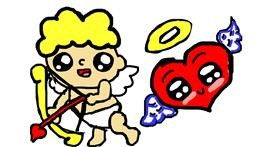 Cupid drawing by Noe