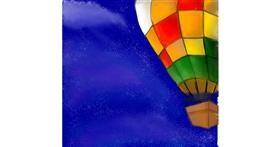 Drawing of Hot air balloon by Ebony Bones