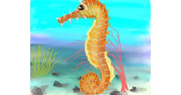 Seahorse drawing by Bro 2.0😎