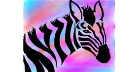 Zebra drawing by Freny