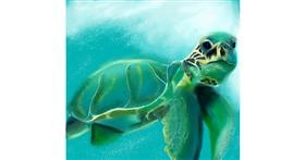 Drawing of Sea turtle by Kathy