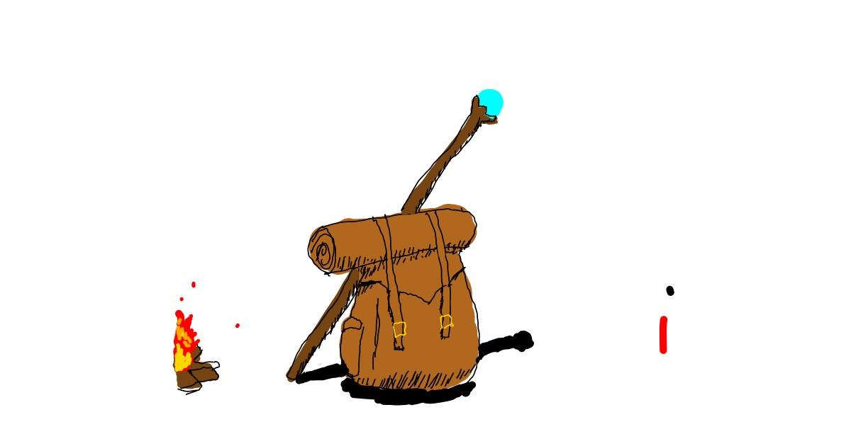 Drawing of Backpack by Ahhhhhh