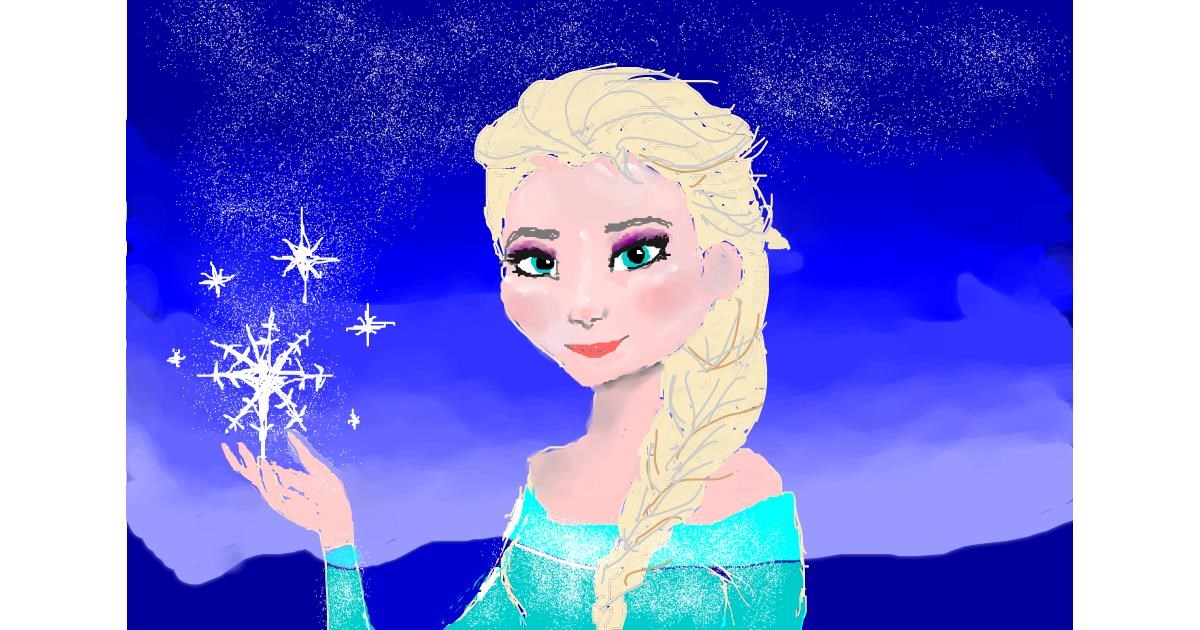 Elsa (Disney) drawing by Klau🌻