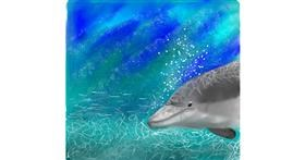 Drawing of Dolphin by Yasmeen