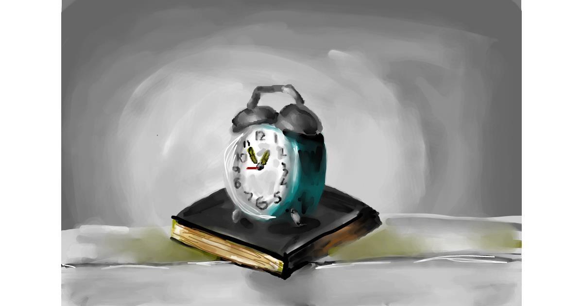 Alarm clock drawing by Soaring Sunshine