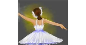 Ballerina drawing by Poopy Pants Mc'Gee