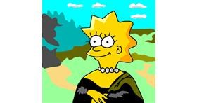Lisa Simpson drawing by Dreamer