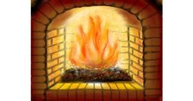Drawing of Fireplace by ELLE