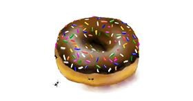 Donut drawing by Cec