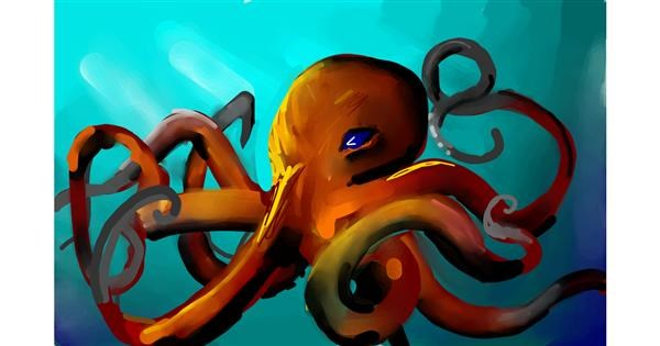 Octopus drawing by Rose rocket