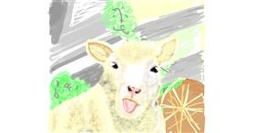 Sheep drawing by Geo-Pebbles