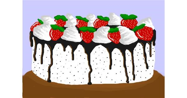 Birthday cake drawing by w0ah