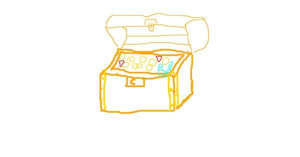 Treasure chest drawing by Alice