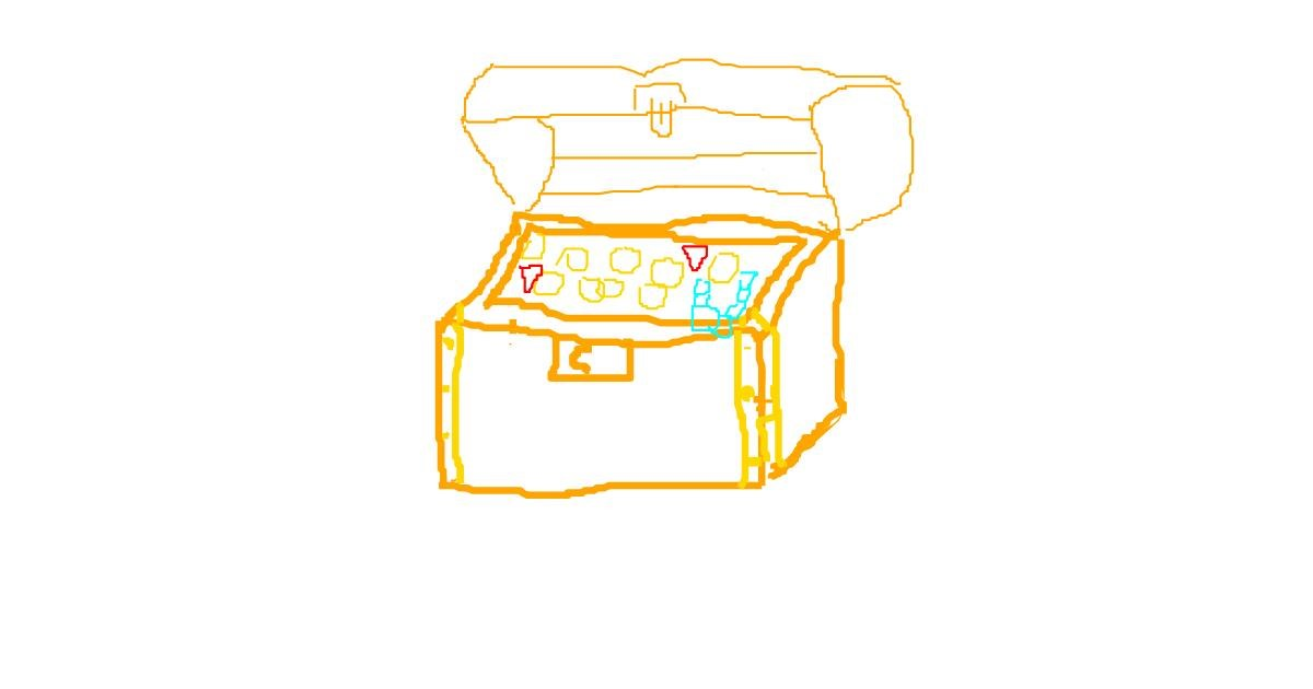 Drawing of Treasure chest by Alice