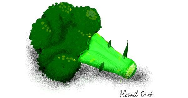 Broccoli drawing by Bigoldmanwithglasses