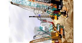 Crane (machine) drawing by VinnievanG