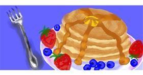 Pancakes drawing by Debidolittle