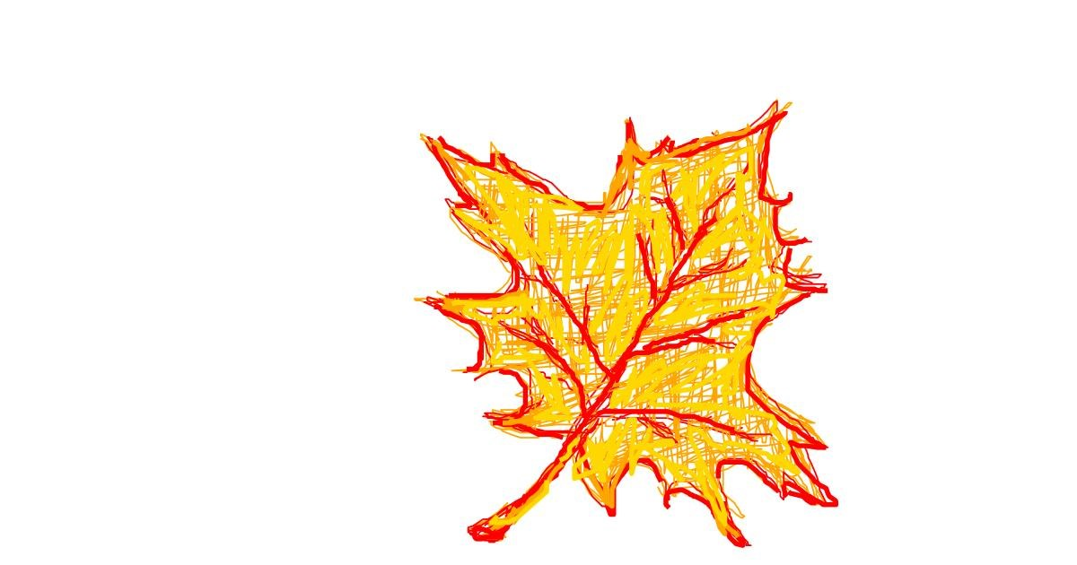 Drawing of Leaf by bloop