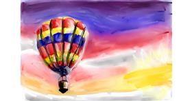 Drawing of Hot air balloon by Soaring Sunshine