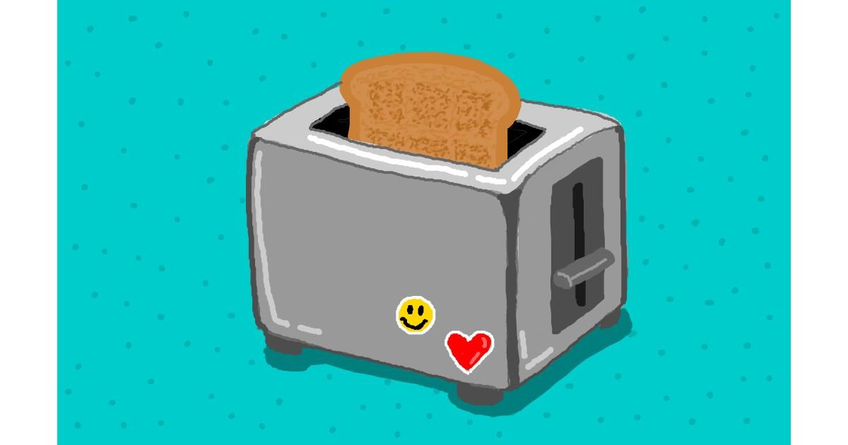 Toaster drawing by Sim