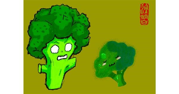 Broccoli drawing by 𝐓𝐎𝐏𝑅𝑂𝐴𝐶𝐻™