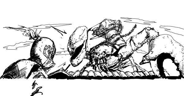 Lobster drawing by StickyLeaf