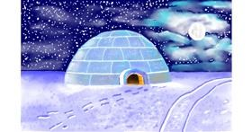 Igloo drawing by GJP