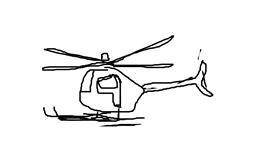 Helicopter drawing by m