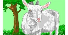 Drawing of Goat by RonNNIEE