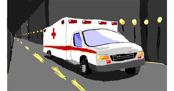 Ambulance drawing by Sam
