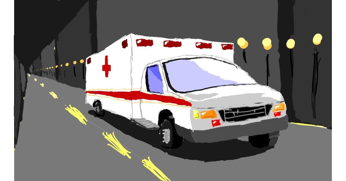 Ambulance drawing by Sam