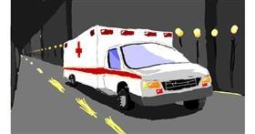 Drawing of Ambulance by Sam